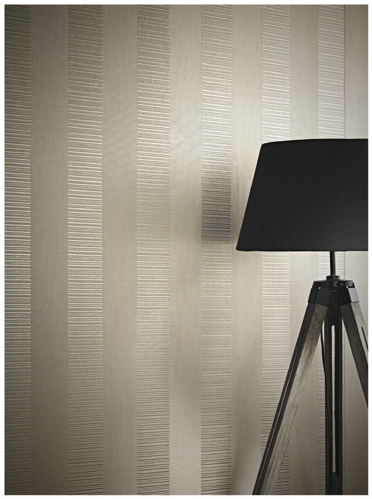 Arthouse Ravello Stripe Taupe 262003 Wallpaper